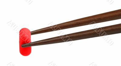 Chopsticks with capsule
