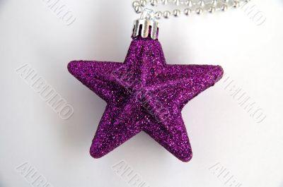 Purple christmas star