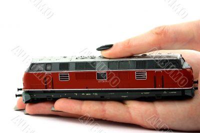 Diesel locomotive model
