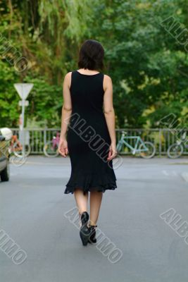 waltking woman