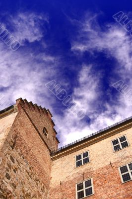 castle and dramatic sky