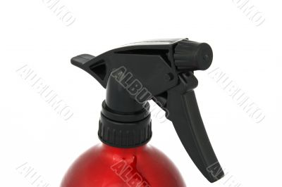red spray flask