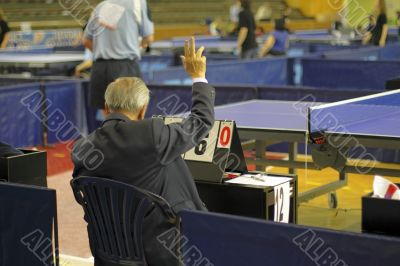 Table tennis referee