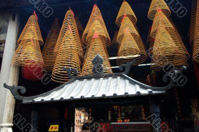 Hanging incense cone