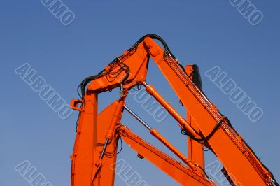 Orange machinery