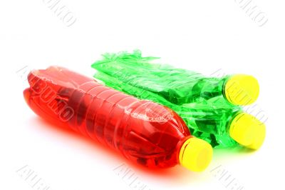 Red and green bottles