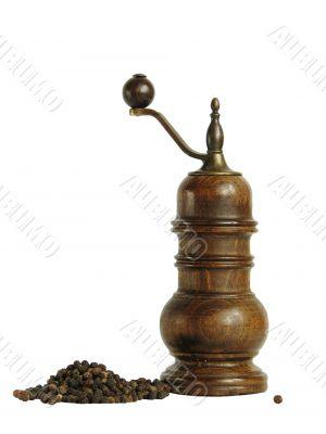 Pepper mill and black pepper