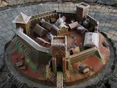 Model of ancient stronghold