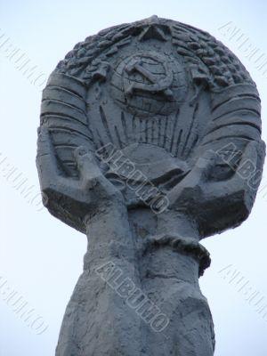 Soviet sculpture for Ukrainian-Russian brotherhood