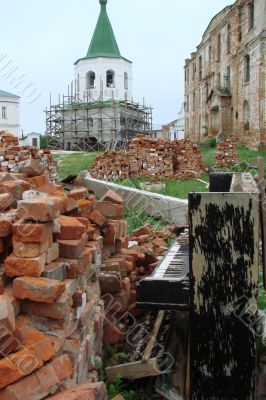 The Old Broken Piano Among Ruins