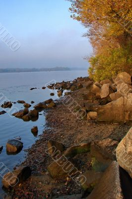 Autumn Sunrise on Stony Beach