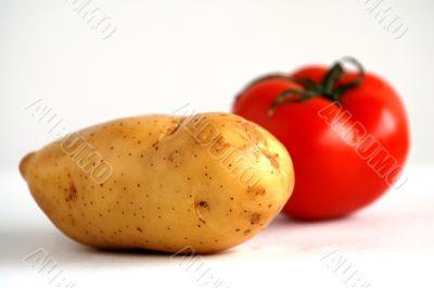 Potato and tomato