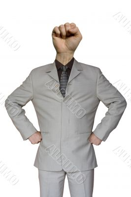 Businessman Fist Hand Head