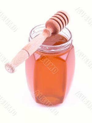jar of honey isolated