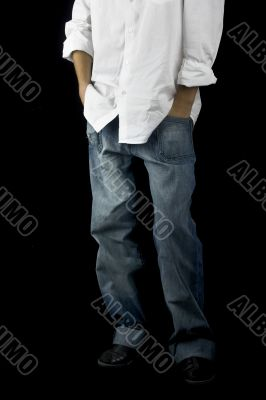 Boy with hands on the pockets