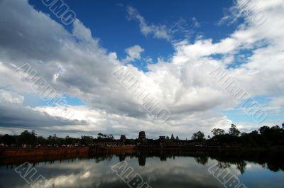 Landscape of moat, Angkor Wat