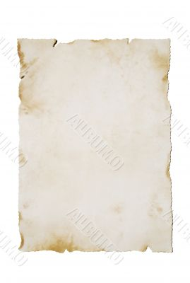 Old paper on White (vertical)