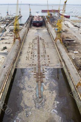 Vessel in dock