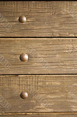 Nailed wood plank