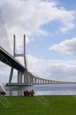 People under the bridge