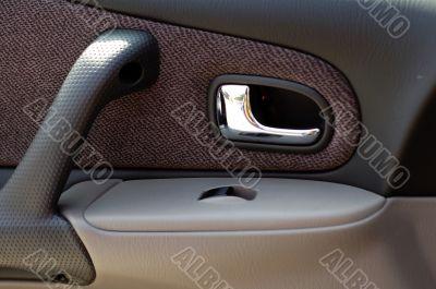 Interior panel of modern car door