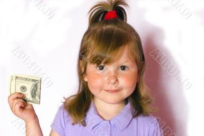 Girl with hundred dollars