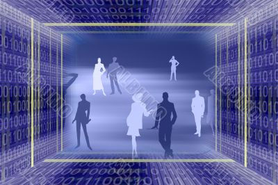 Abstract information technologies background