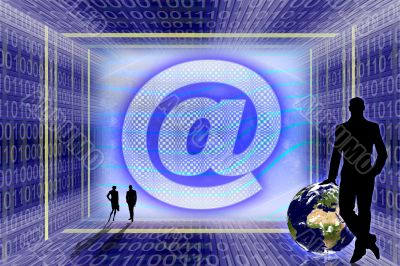 Global Information technology. E-mail concept