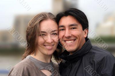 happy couple`s portrait