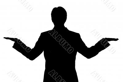business man balance silhouette