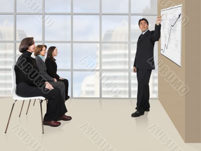 business presentation in an office