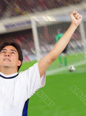 celebrating a goal - soccer