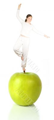 balanced diet - green apple