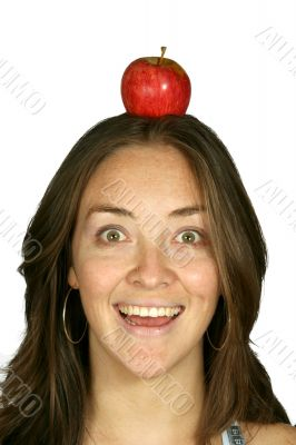 happy diet - apple on head