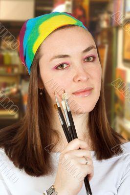 artist in a studio