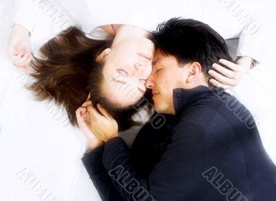 beautiful love - couple in colour
