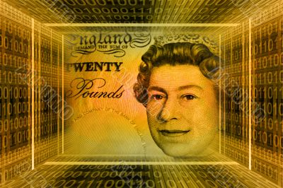 Money concept, Great Britain pounds