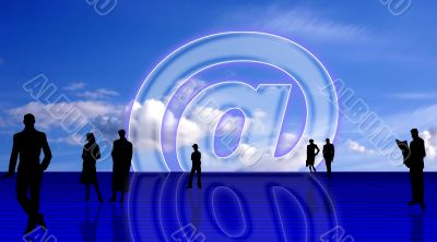 Plain E-mail symbolic background
