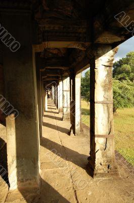 Gallery at Angkor Wat, Cambodia