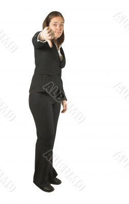 business woman - thumbs down