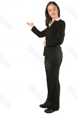 business woman doing a presentation