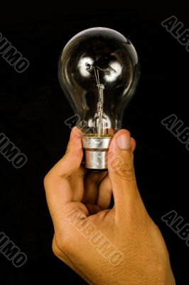 business idea - black bulb
