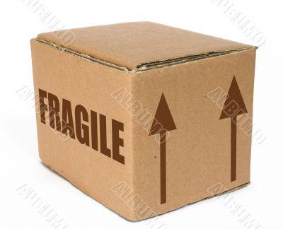 cardboard  box - fragile moving