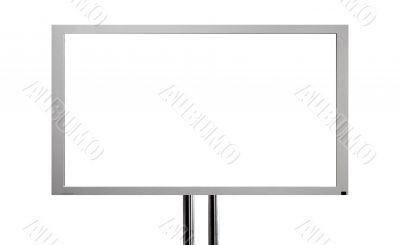 plasma television screen - white