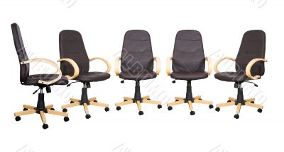 business meeting - brown chairs