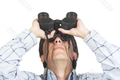 find and seek - man with binoculars