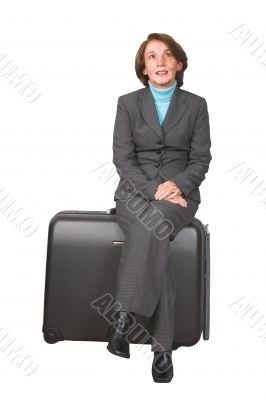 business woman on a trip