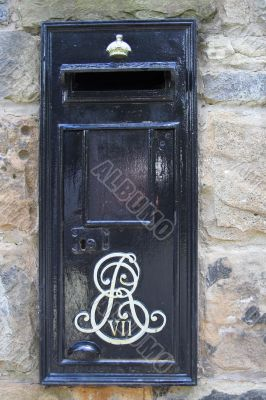 A rare Edward VII black postbox