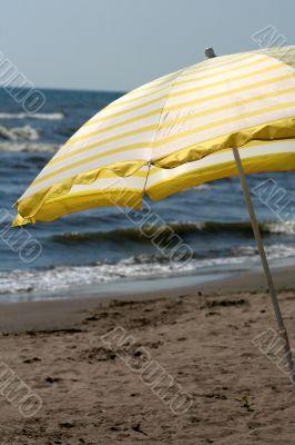 Yellow Beach Umbrella