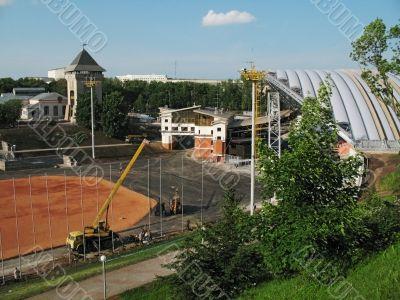 Construction festival amphitheatre - Vitebsk